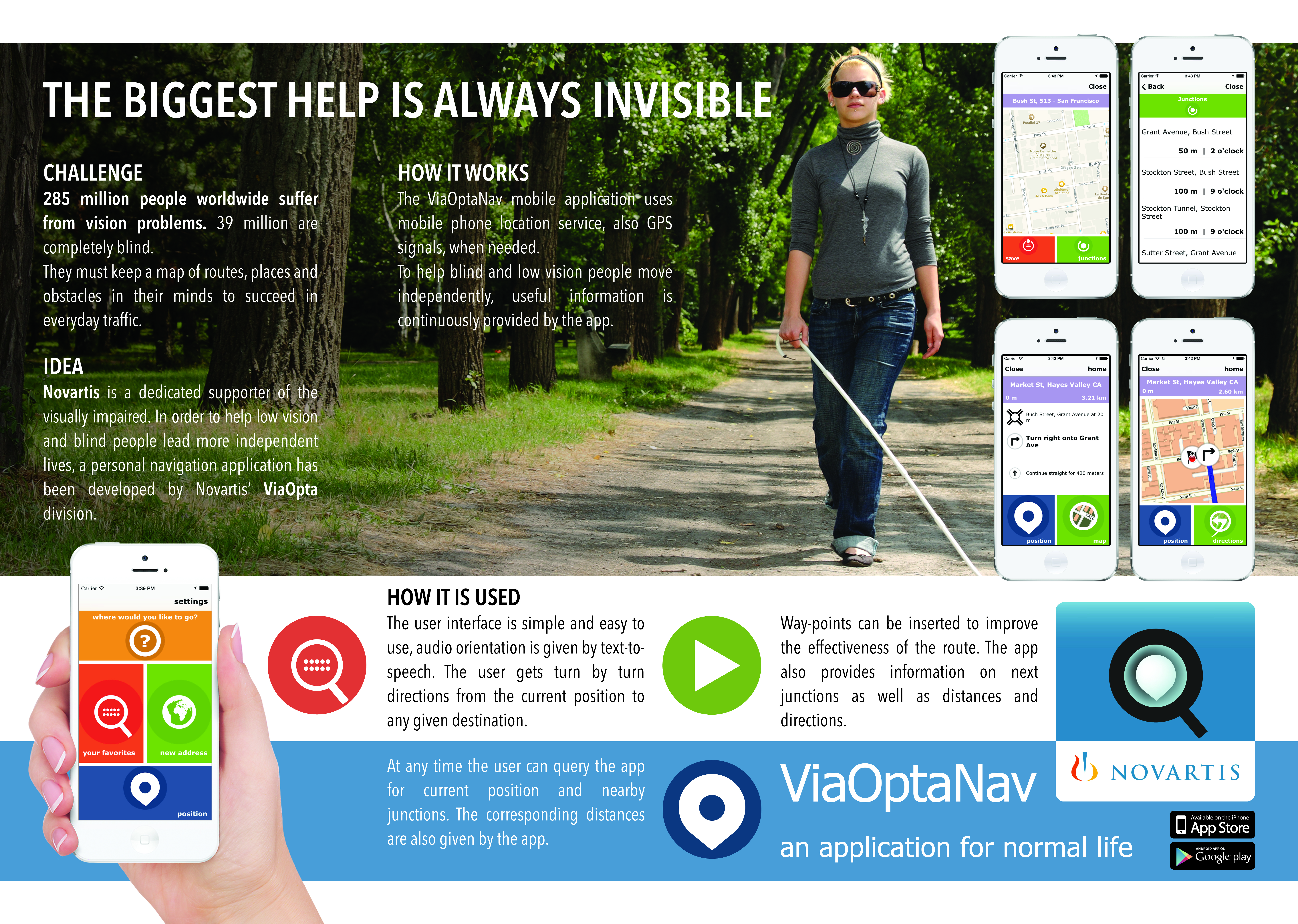 ViaOpta apps for the blind are ready for Cannes Lions and Lions